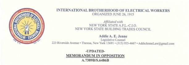 Democrats in NYS Assembly allowed IBEW to veto cryptocurrency moratorium bill to preserve union jobs at Greenidge
